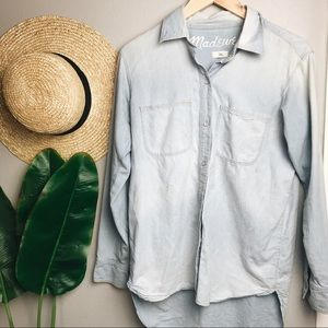 Madewell Light Chambray Button Down Top